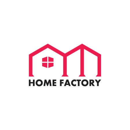 home factory simple logo vector