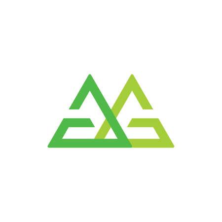 letter gg linked green logo vector Illusztráció