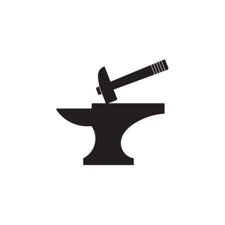 hammer iron silhouette simple symbol vector