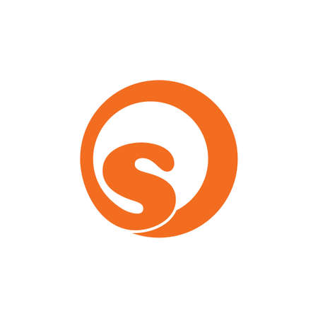 letters os curves loop logo vector