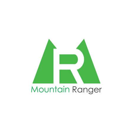 letters mr mountain ranger logo vector Stock Vector - 150060612