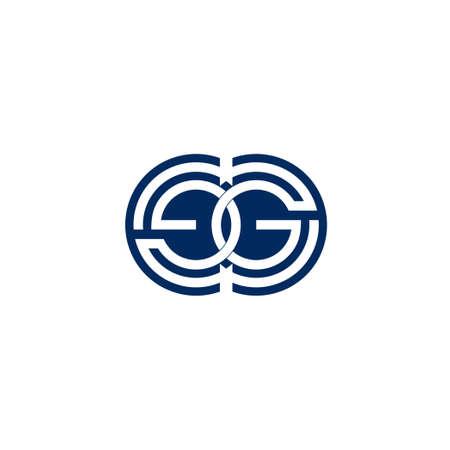 letter eg negative space circle design symbol vector Ilustração