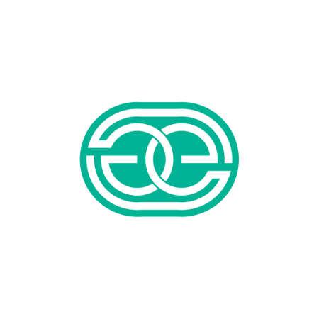 letter ge linked negative space design symbol vector Vektoros illusztráció