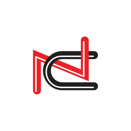 letters nc linked logo vector