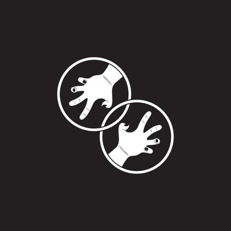 linked grunge violence scary hand symbol decoration vector