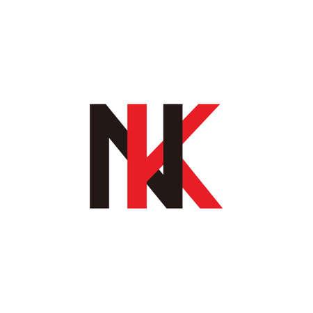 letter nk linked colorful logo vector Ilustrace