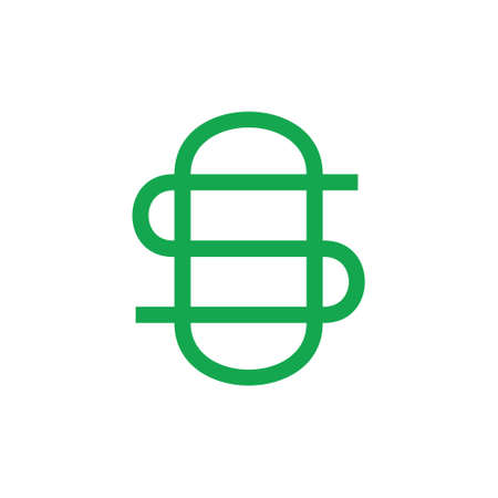 letter os simple linked overlapping line logo vector Vectores