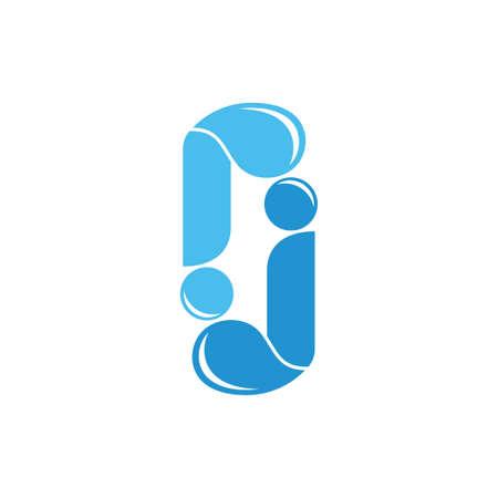 letter jr simple water fresh logo vector