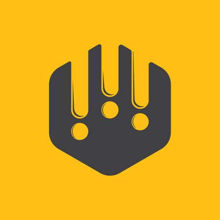 hexagonal honey comb symbol logo vector Stock Illustratie