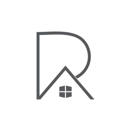letters pa or ra home design logo