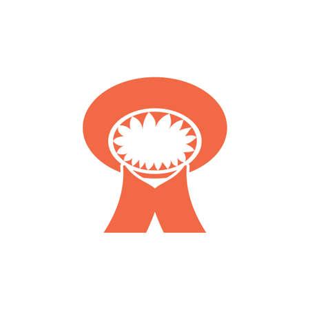 letter m mushroom logo vector