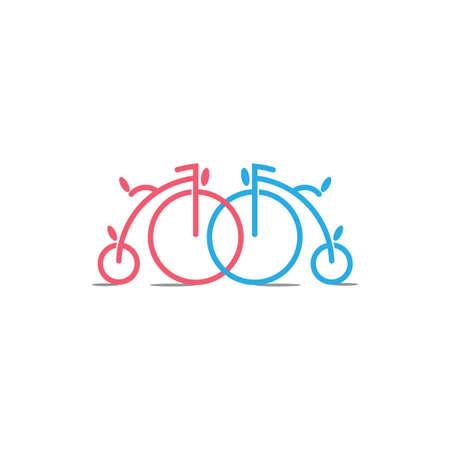 linked old bike decoration vector