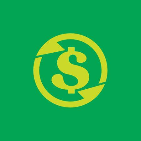 rotation arrow letter s money dollar vector Ilustracja