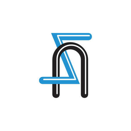 letters zn linked logo vector