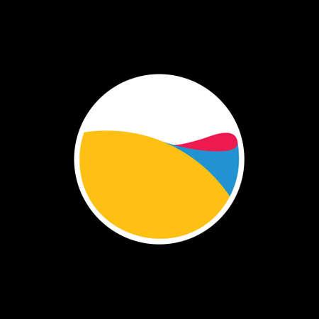 3d water motion in bowl symbol logo vector