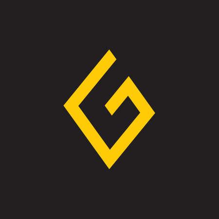 letter g simple geometric logo
