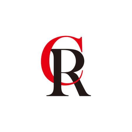 letter cr linked colorful design symbol vector