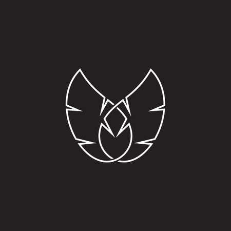 abstract wings lines art geometric design vector best for fashion product emblem