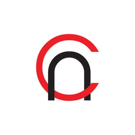 letters ca simple linked line logo vector Çizim