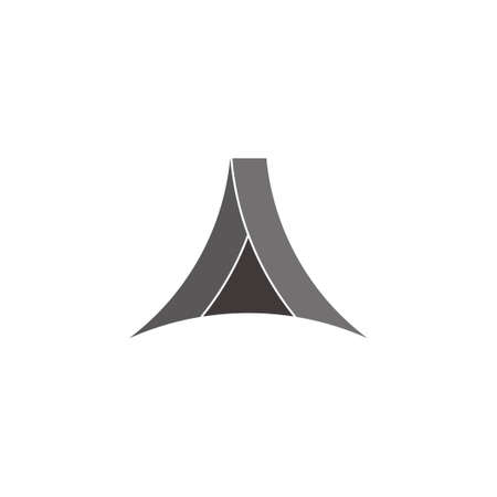 abstract letter a triangle geometric design symbol vector Çizim
