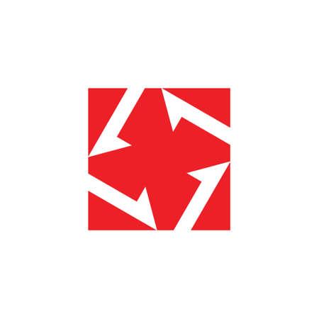 turbine arrow square logo vector