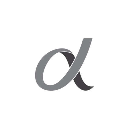 abstract letter d curves 3d ribbon vector fit for logo product