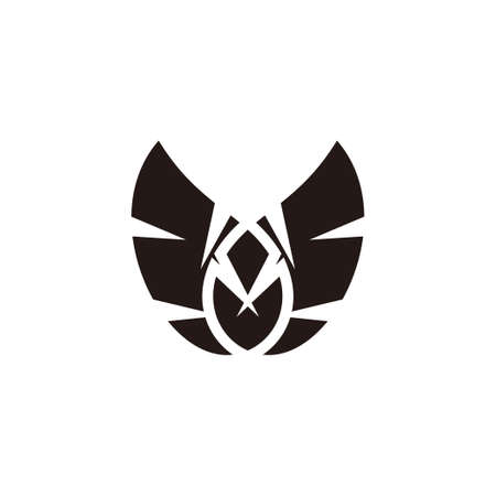simple geometric wings symbol vector fit for your vehicle product logo brand