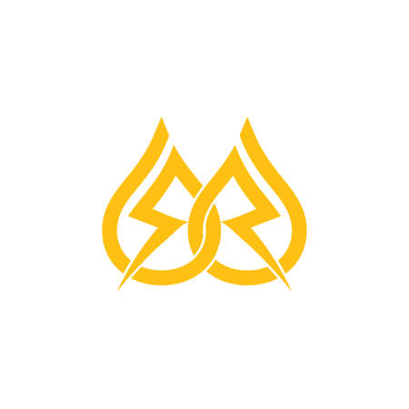 linked electric energy symbol vector