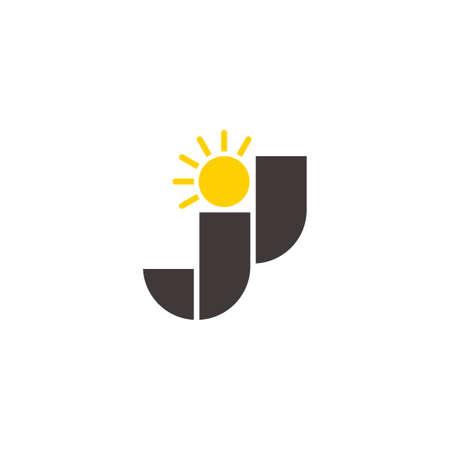 abstract letter jj shine sun design vector fit for logo emblem