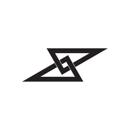 abstract infinity linked triangle overlap logo vector