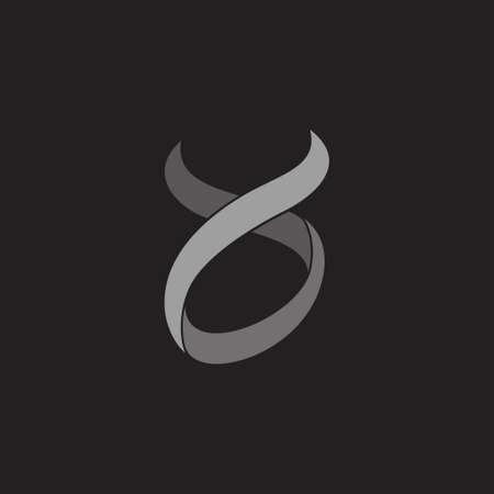 curves motion ribbon fabric shape vector fit for fashion brand logo Çizim