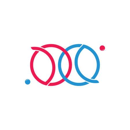 linked planet satellite circle logo vector