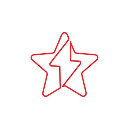 star energy flash design logo vector Stok Fotoğraf