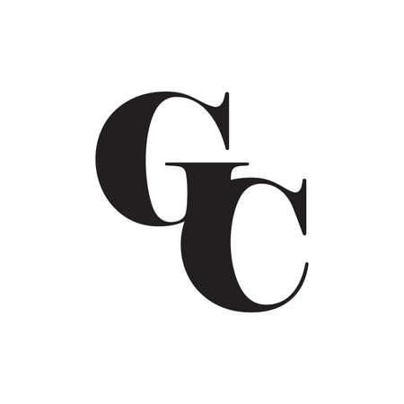 letter gc simple geometric logo vector