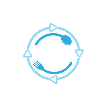 spoon fork loop decoration icon vector