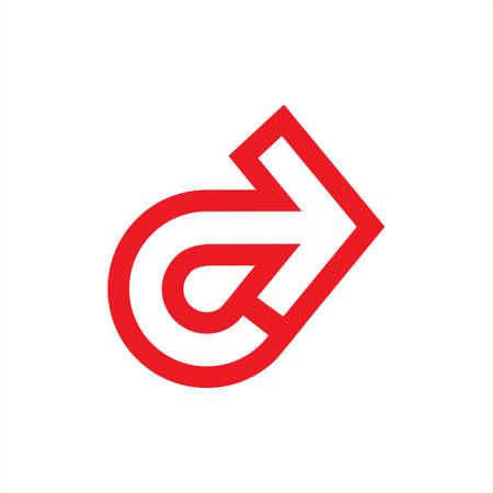 letter c rotation arrow pointer symbol icon vector Illusztráció