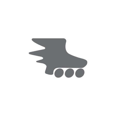 fast motion inline skate symbol logo vector