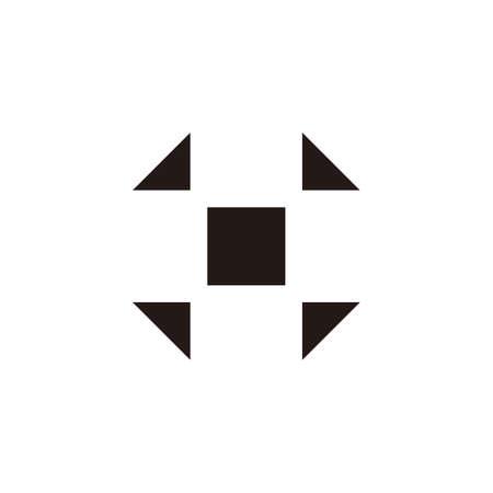 plus simple square negative space symbol logo vector