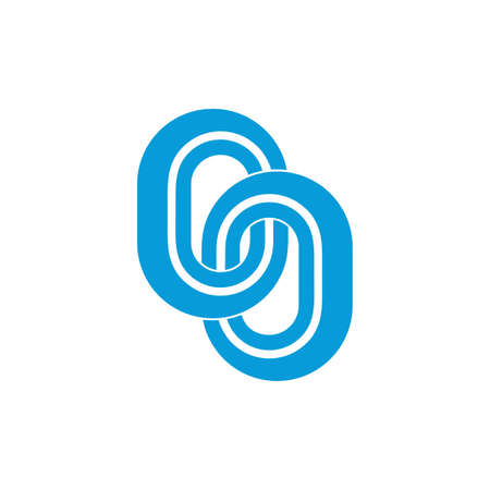 linked stripes chain symbol logo vector Illusztráció