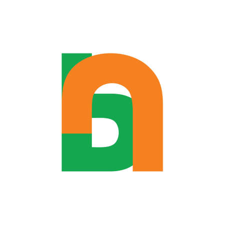 abstract letter bn simple linked logo vector Logó