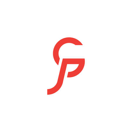 letter gp simple geometric line logo vector Logó