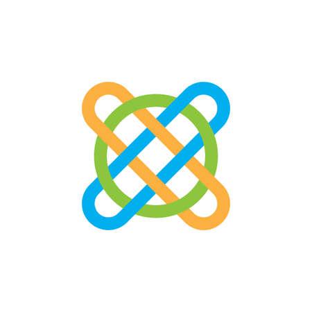 letter xo linked line art logo vector