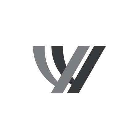 letter wy simple geometric line linked logo vector 向量圖像