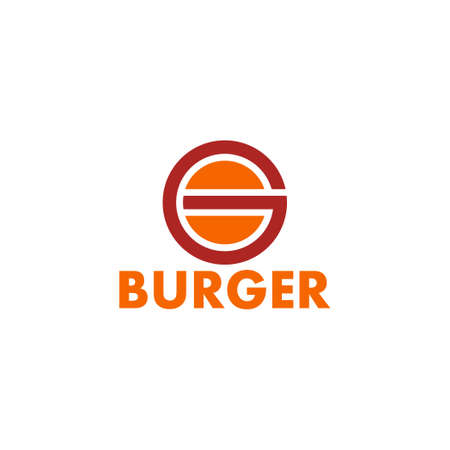 letter g burger shape simple geometric logo vector Çizim