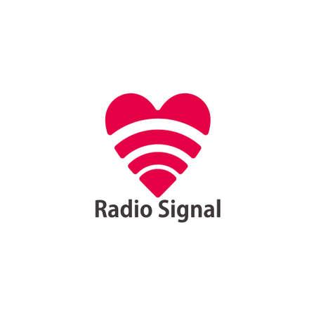 radio signal geometric love shape symbol logo vector 版權商用圖片 - 157364968