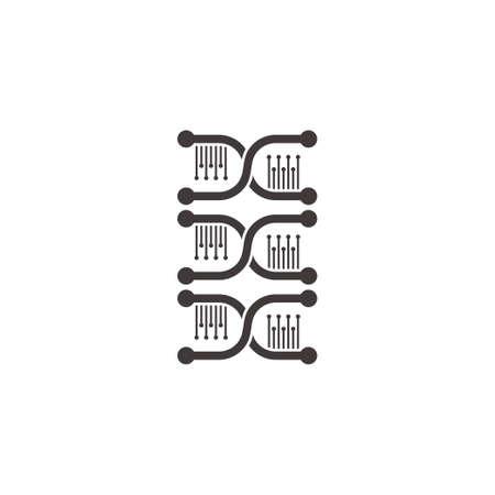 group dna simple flat geometric design genetic symbol vector