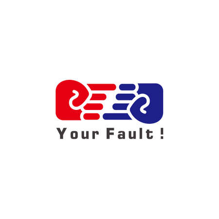 pointing hand your fault symbol decoration vector