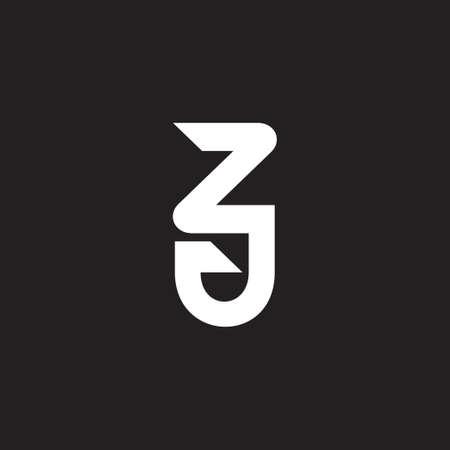 abstract letter zj simple geometric linear logo emblem vector
