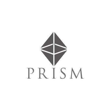 vector of prism shape 3d flat simple design