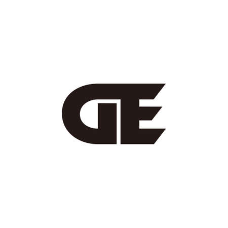 vector of letter ge simple geometric logo vector